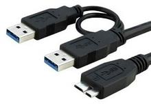 Faranet A/M To Y MicroUSB 3.0 External Hard Cable 1m